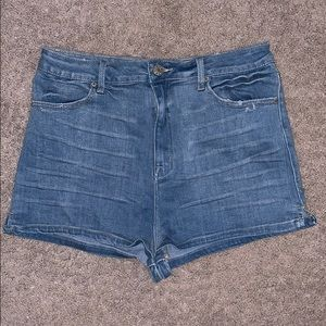 BDG at Urban Outfitters High Waisted Denim Shorts